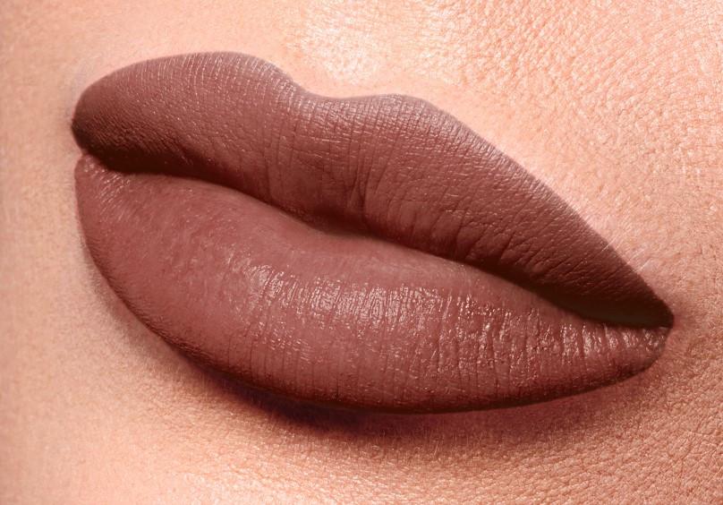 Полуматовая губная помада Velvet Kiss, тон Коричнего-бежевый