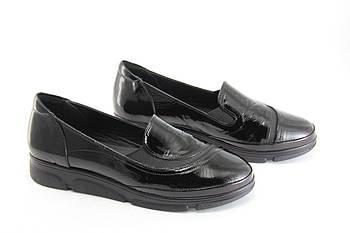 Туфли женские кожаные на танкетке Heya  1323-F-010-SIYAH