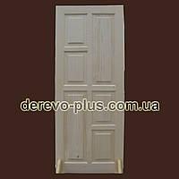 Двери из массива дерева 80см (глухие) f_1580