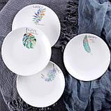 Керамическая тарелка блюдце 14 см стильный рисунок, набор 4шт., фото 5