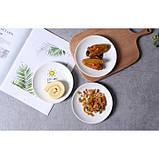 Керамическая тарелка блюдце 14 см стильный рисунок, набор 4шт., фото 7