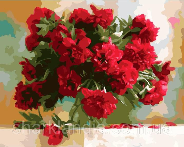 Картина за номерами Brushme Червоні півонії GX7527