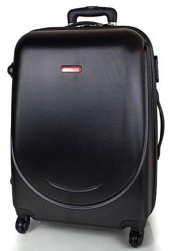 Удобный средний 4-х колесный чемодан из пластика 59,5 л. GRAVITT (ГРАВИТ) DS310M-2 черный