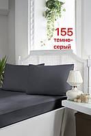 Туреччина, ОРИГІНАЛ!!! Сатинова простирадло на гумці 180х200+30 см, наволочки 50х70 див (2 шт)