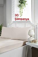 Турция, ОРИГИНАЛ!!! Сатиновая простынь на резинке 180х200+30 см с наволочками 50х70 см (2 шт)