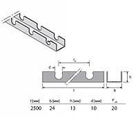 Фиксирующий трак для теплого пола Uponor 9.9 мм, длина 2,5м