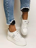 Farinni. Женские кеды-кроссовки белые на платформе. Натуральная кожа. Размер 37,38, 39, фото 10