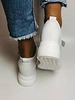 Farinni. Женские кеды-кроссовки белые на платформе. Натуральная кожа. Размер 37,38, 39, фото 7