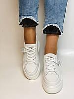 Farinni. Женские кеды-кроссовки белые на платформе. Натуральная кожа. Размер 37,38, 39, фото 9