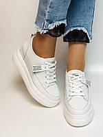 Farinni. Женские кеды-кроссовки белые на платформе. Натуральная кожа. Размер 37,38, 39, фото 8