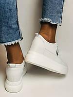 Farinni. Женские кеды-кроссовки белые на платформе. Натуральная кожа. Размер 37,38, 39, фото 5