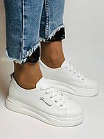 Farinni. Натуральная кожа. Женские белые кеды-кроссовки. Размер 37.38.39.40, фото 2