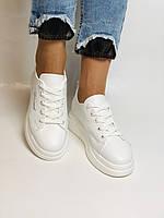 Farinni. Натуральная кожа. Женские белые кеды-кроссовки. Размер 37.38.39.40, фото 4