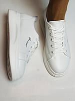 Farinni. Натуральная кожа. Женские белые кеды-кроссовки. Размер 37.38.39.40, фото 3
