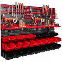 Перфорированная настенная панель органайзер  для хранения инструментов Botle 115×78 см 32 лотка