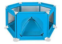 Игровой детский разборной манеж  из сетки  в детскую Malatec 125 × 65 см голубой, фото 1