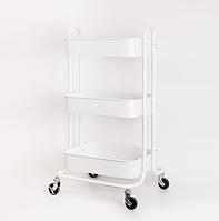 Тележка столик парикмахерский для инструментов мебель для салонов красоты White Calissimo, фото 1