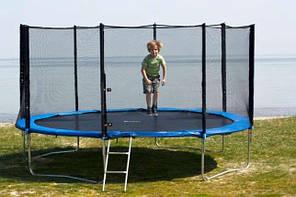 Батут спортивный детский каркасный для дома с защитной сеткой ограждением Funfit 312 см(10ft)