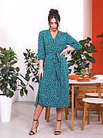 Сукня жіноча великий розмір 200/2 (48-50; 52-54) кольори: зелений, чорний) СП, фото 1