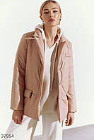 Бежевая куртка-жакет S M L XL