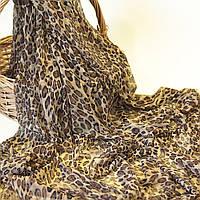 Сетка стрейч для нижнего белья с принтом леопард мелкий / размер 0,5*1,5 м / заказ от 0,5 м
