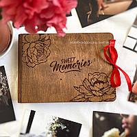 Фотоальбом в деревянной обложке для любимых женщин   Оригинальный подарок девушке, маме, бабушке