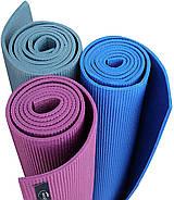 Килимок для йоги та фітнесу (йога мат) WCG M6 Синій, фото 5