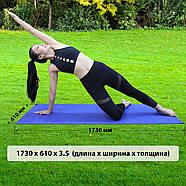 Килимок для йоги та фітнесу (йога мат) WCG M6 Синій, фото 7