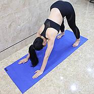 Килимок для йоги та фітнесу (йога мат) WCG M6 Синій, фото 9