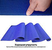 Килимок для йоги та фітнесу (йога мат) WCG M6 Синій, фото 10