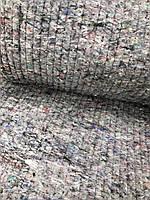 Ватин серый прошивной пл. 400 ш 150см для бытового использования : гладильные доски , , спецовки, матрасов.