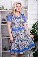 Сукня ТМ ALL POSA Кабаре блакитний 50 (4789-1) 52