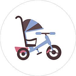 Трехколесный велосипед с ручкой и козырьком: альтернатива коляске или нет