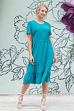 Сукня ТМ ALL POSA Пандора бірюза 60 (4916-3) 54