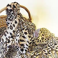 Сетка стрейч для нижнего белья с принтом леопард крупный / размер 0,5*1,7 м / заказ от 0,5 м