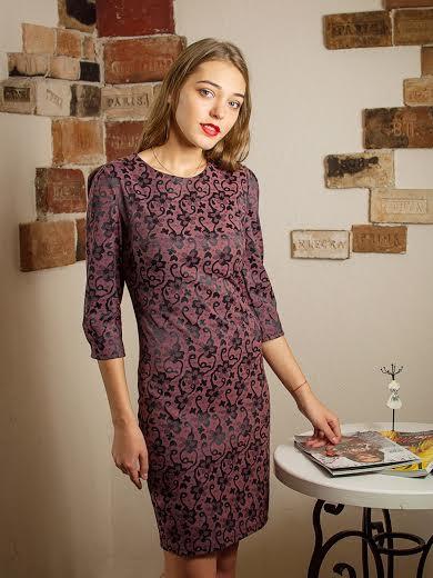Красивое коктейльное платье цвета сирень