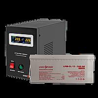Комплект резервного питания для котла и теплого пола Logicpower B1000 + гелевая батарея 2700 ватт