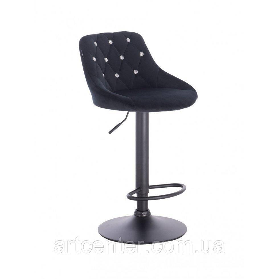 Хокер, високе крісло Zara, крісло для візажиста, спинка зі стразами, велюр