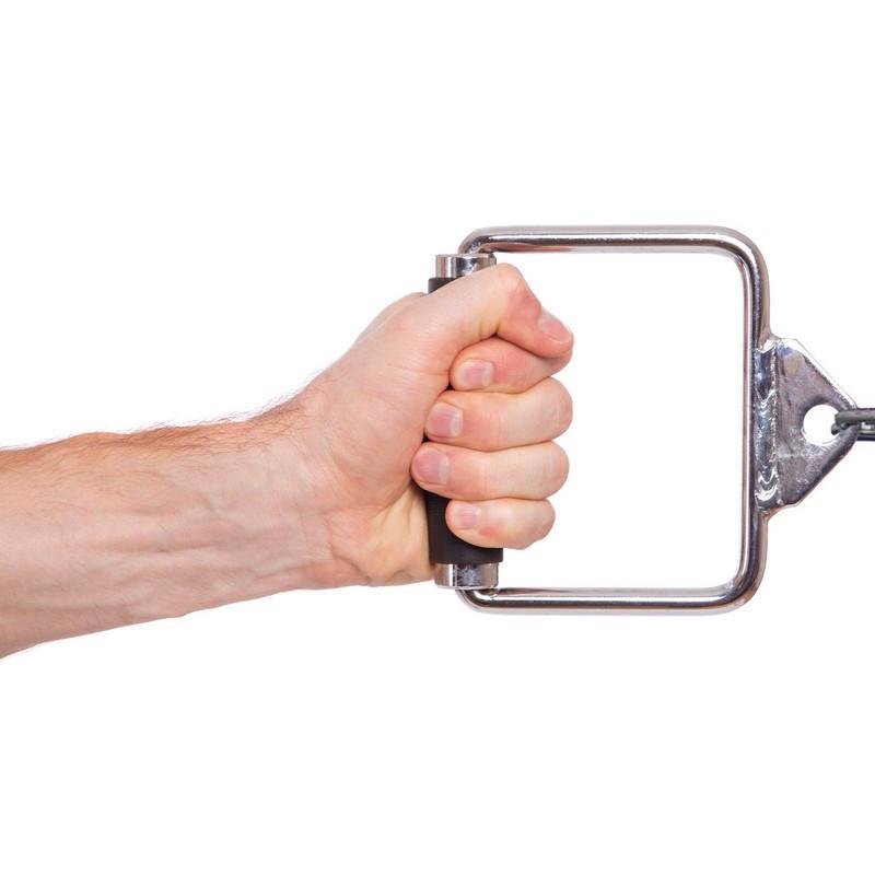 Рукоятка для тренажера одиночна закрита з PU накладкою Record (р-р 15х15см)
