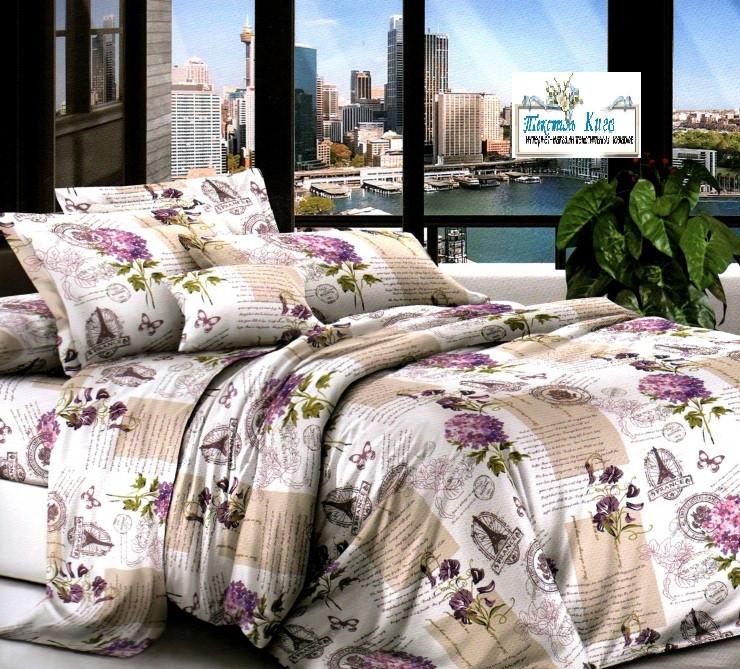 Бязь  Евро комплект постельного белья 200х215см постельное бельё евро размер