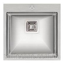 Кухонная мойка Qtap DK5050 Satin 2.7/1.0 мм (QTDK50502710)