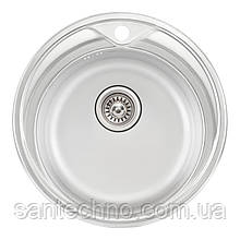 Кухонная мойка Qtap D510 Satin 0,8 мм (QTD510SAT08)