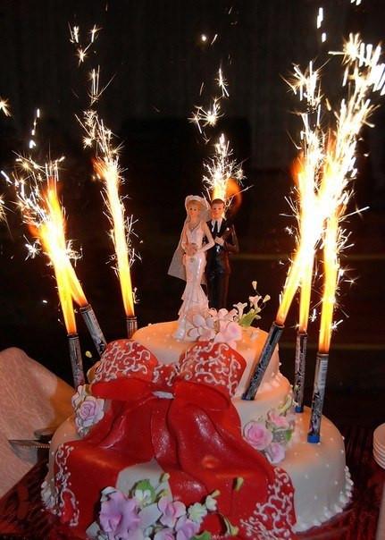 тортовые свечи фейерверк