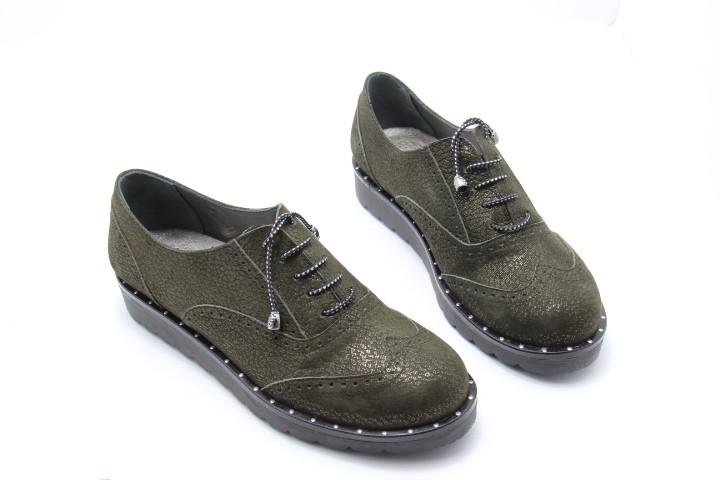 Жіночі туфлі оксфорты Aras Shoes 108-haki