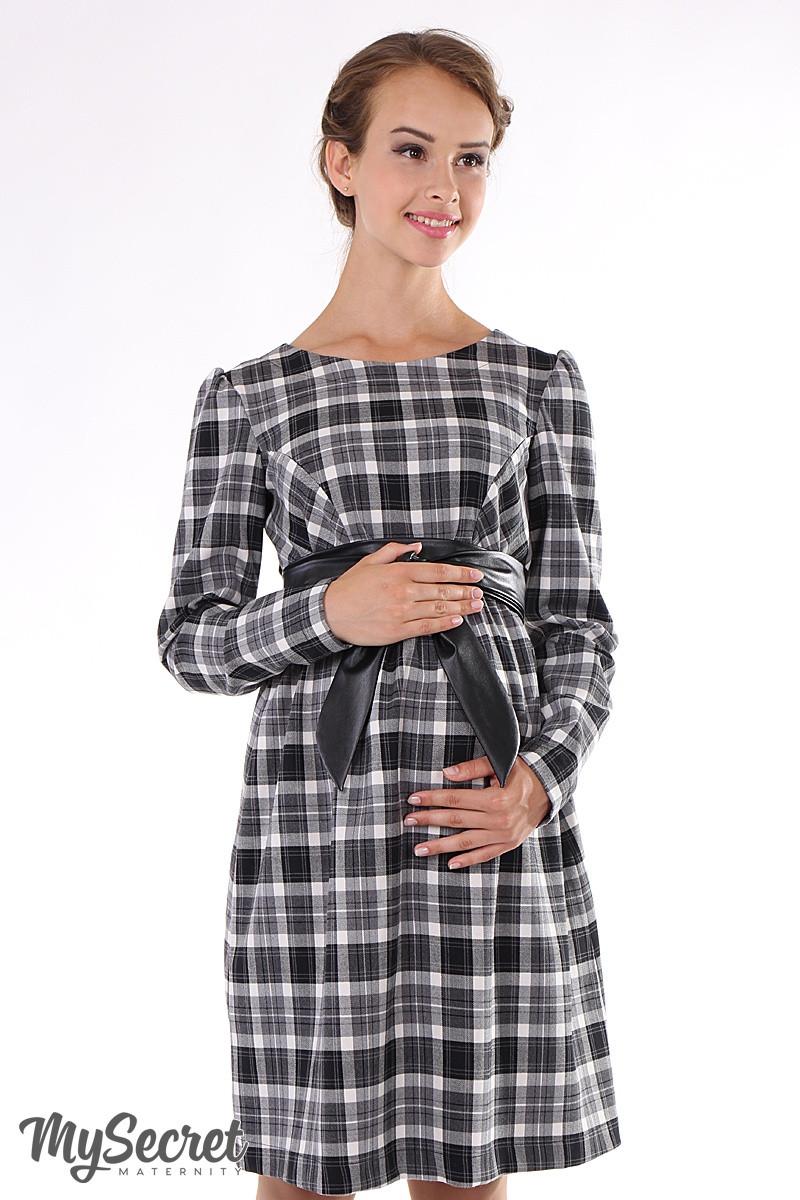 6aee1c98fce4 Платье для беременных и кормящих Barbara My Secret черно-белое -  Интернет-магазин «