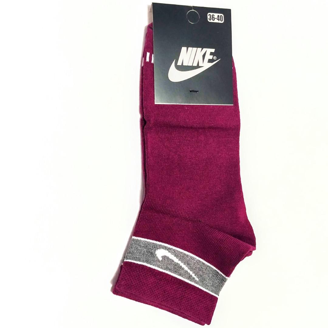 Носки женские короткие спорт демисезонные хлопок вишневые