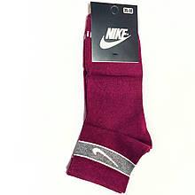 Шкарпетки жіночі короткі спорт демісезонні бавовна вишневі