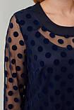 Блузка ТМ ALL POSA Грация синий 52 (1427-3), фото 4