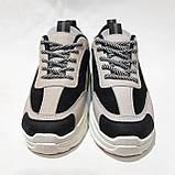 38 р. Весняні жіночі кросівки з еко-шкіри беж з чорним маломірки Остання пара, фото 2