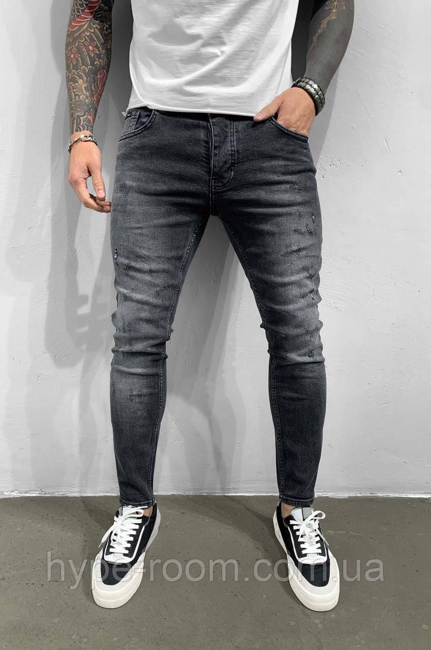 Чоловічі турецькі джинси чорні молодіжні чоловічі джинси, брюки(розмір 29,31,34)
